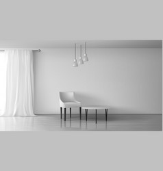Living room realistic minimalistic interior vector