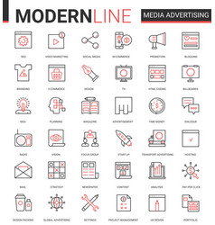 Media advertising flat icon vector