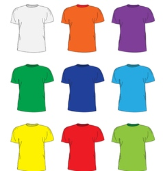 Mens t shirts design template set vector