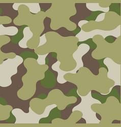 military green print seamless vector image