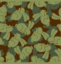 military texture rabbit army bunny seamless vector image