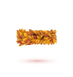 Minus mark of autumn fall bright orange leaves vector