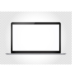modern thin laptop with wide screen mockup vector image