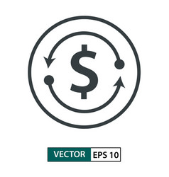 money icon line style isolated on white eps 10 vector image