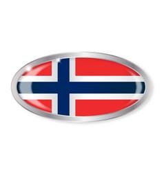 Norwegian flag oval button vector