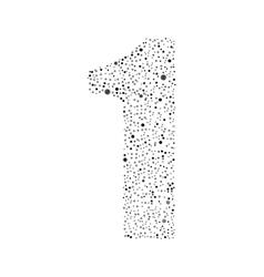 Number zero logotype design vector