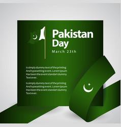 Pakistan day template design vector