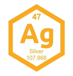 Periodic table silver vector image