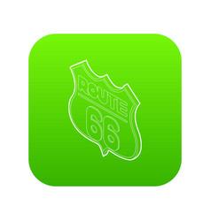 Route 66 icon green vector