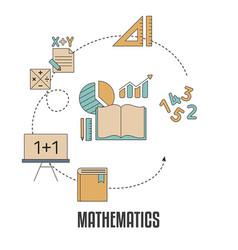 School subjects design concept school subjects vector