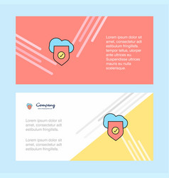 secure cloud abstract corporate business banner vector image