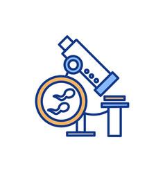 semen analysis rgb color icon vector image