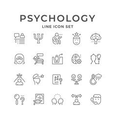 Set line icons psychology vector