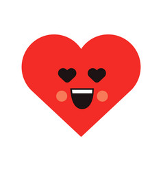 smile loving heart icon vector image