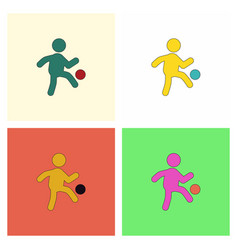 Soccer player collection vector