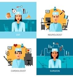 Specialist Doctors Concept Set vector