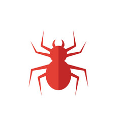 Spider icon simple flat element from halloween vector