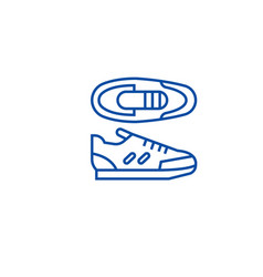 sport sneakers line icon concept sport sneakers vector image