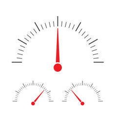 tachometer speedometer and indicator icon vector image