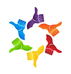 Thumb up hands vector image vector image