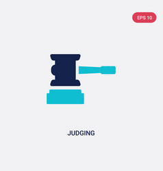 Two color judging icon from general concept vector