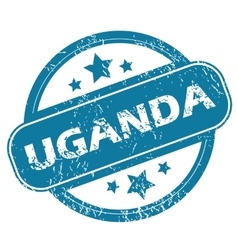 Uganda round stamp vector