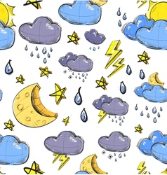 Weather seamless colorful pattern vector