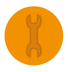 wrench key isolated icon vector image