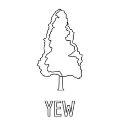 yew icon outline style vector image