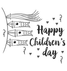 Hand draw children day style collection vector