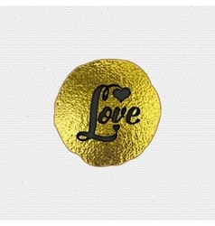 Love - the word as a badge decorated in different vector image vector image