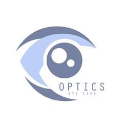 optics eye care logo symbol vector image