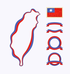 Colors of Taiwan vector image