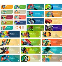 Mega collection of flat design infographic banners vector image