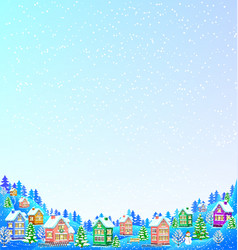 snow background for text with winter landscape vector image vector image