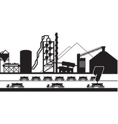 cement production plant vector image vector image