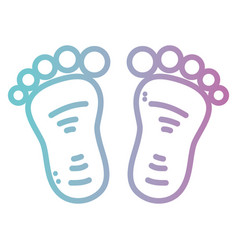 line baby footprint design icon vector image