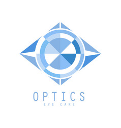 optics logo symbol vector image