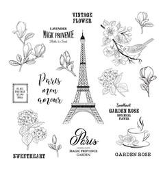 paris romantic collection vector image