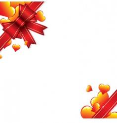 ribbon with hearts vector image vector image