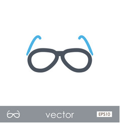 sunglasses outline icon summer vacation vector image vector image