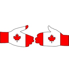 Canadian handshake vector image vector image