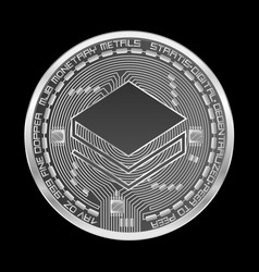 crypto currency stratis silver symbol vector image vector image