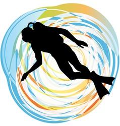 Diver vector image vector image