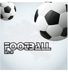 football text two ball background image vector image