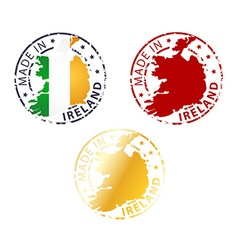 made in Ireland stamp vector image
