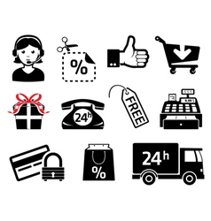 sales icons vector image vector image