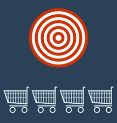 shopping chart target concept vector image