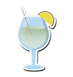 single cocktail icon vector image