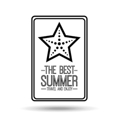 starfish card best summer travel and enjoy vector image